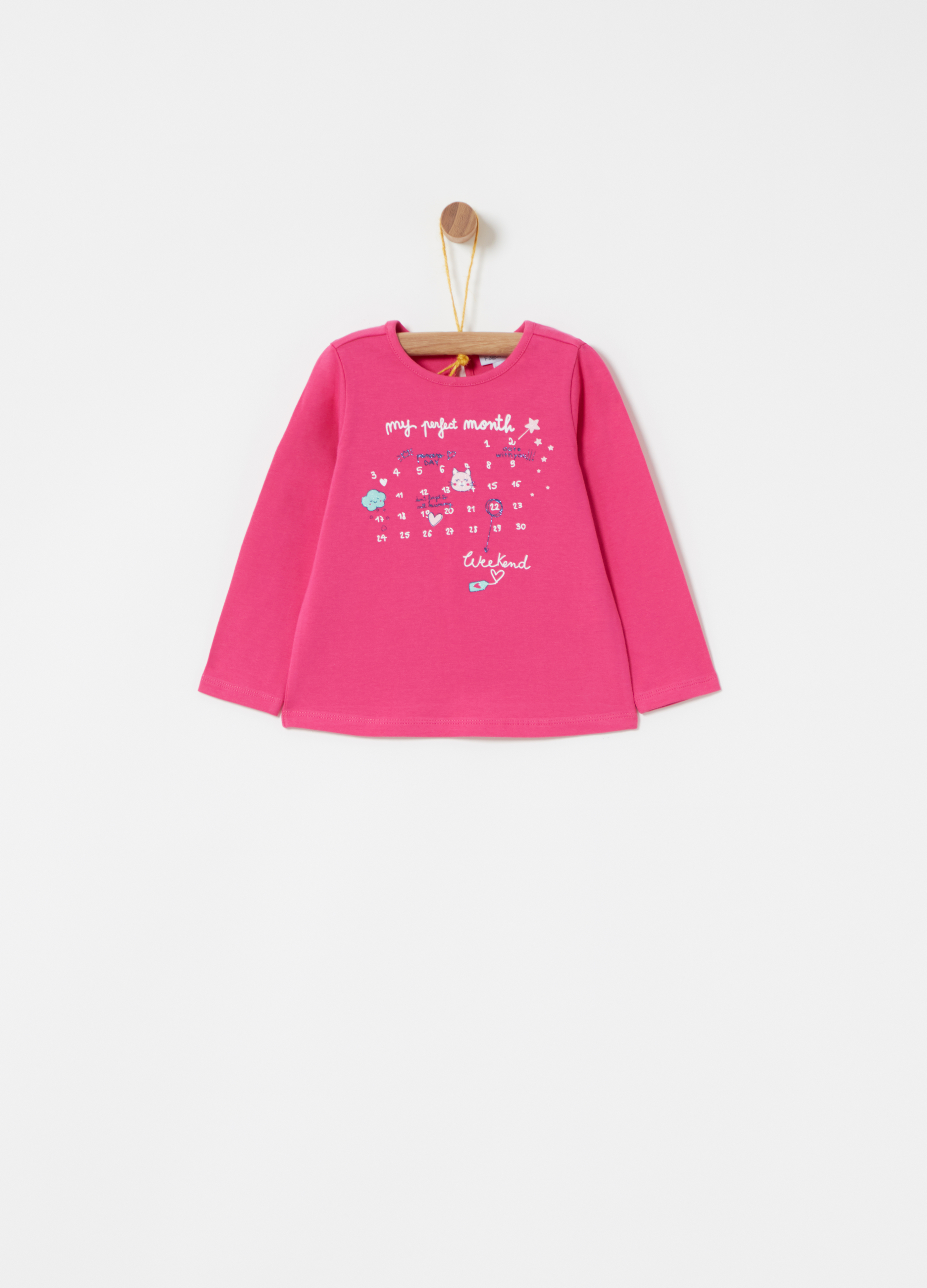 9df7d0caf00687 Stretch jersey T-shirt with glitter print