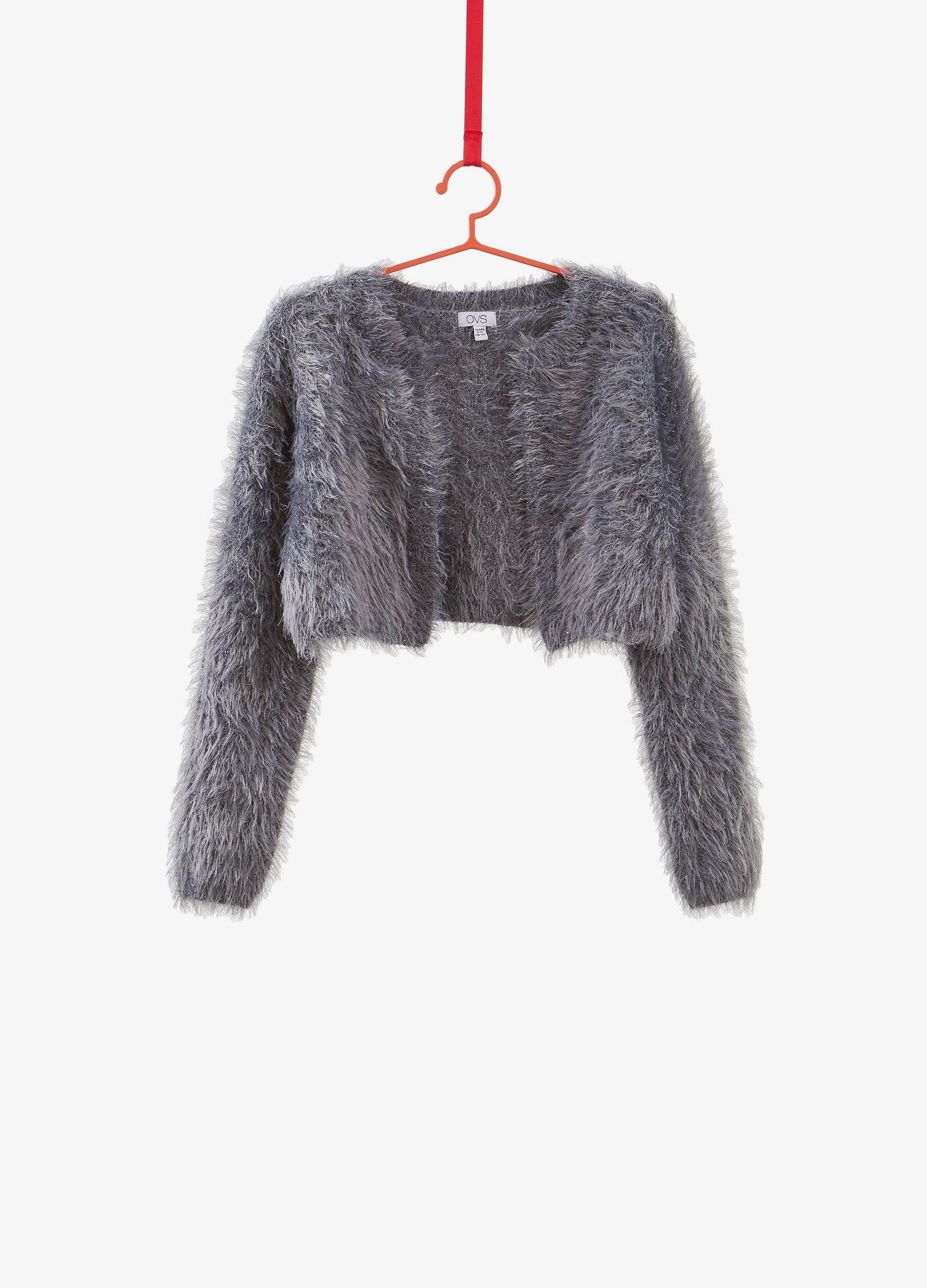 Lurex With Ovs Cardigan Knitted Crop wq8RvO66