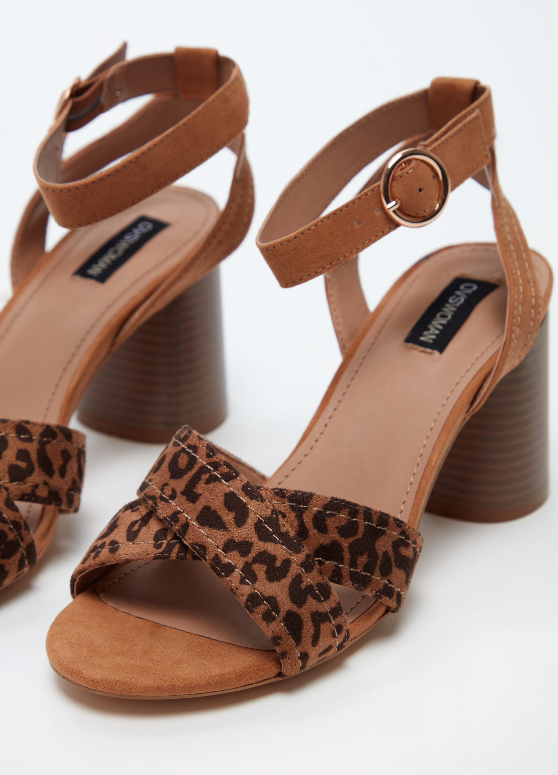 bcd66ab528d5 Sandals with crossover animal print straps | OVS