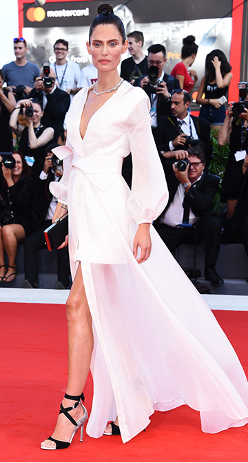 426bbfcd65e2 For the inauguration evening of the 74thVenice International Film Festival, Bianca  Balti chose to walk the red carpet in an OVS outfit that will be ...